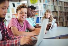 Students Using Laptop, Digital Tablet
