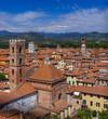 Panorama of Lucca Italia