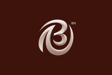 Letter B And N Monogram Logo D...