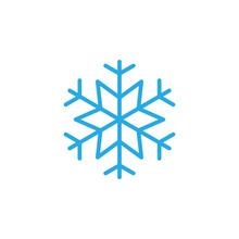 Snowflake, Freeze Line Icon, O...