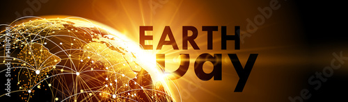 Planet earth with sunrise. Vector