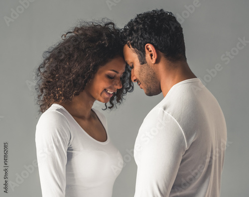 Afro American couple Canvas Print