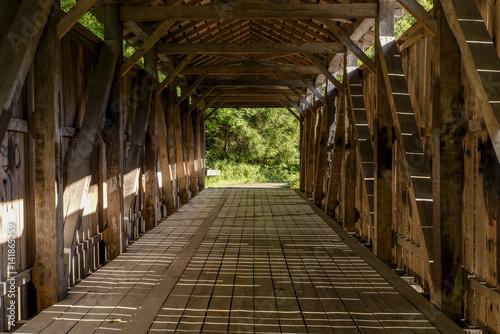 Fotografie, Obraz  Historic, Restored Teegarden Covered Bridge - Ohio