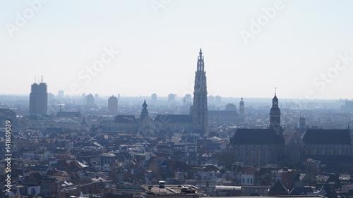 Poster Antwerp Les toits anversois