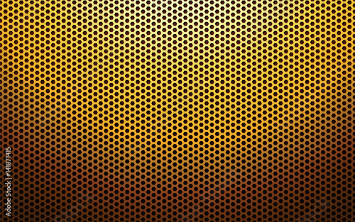 gold metal perforated texture Tablou Canvas