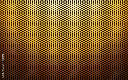 Valokuva  gold metal perforated texture