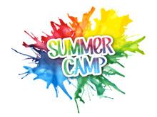 """""""SUMMER CAMP"""" On Splashes Of Watercolour"""