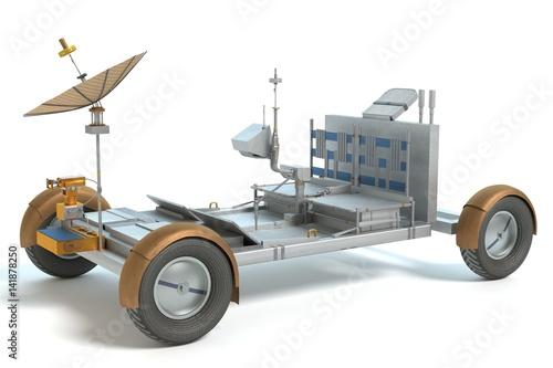 Aluminium Prints Nasa 3d illustration of a space rover