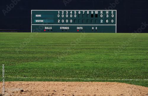 Vintage baseball scoreboard