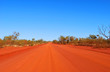 canvas print picture - Red center, road outback in Australia.