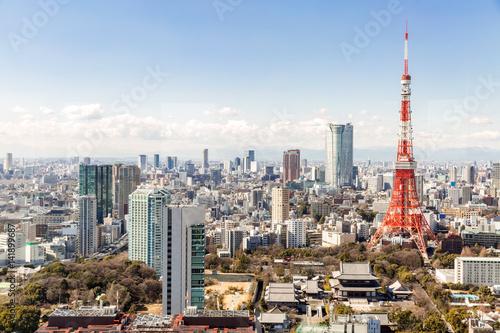 Plakat Tokyo Tower, Tokio Japonia