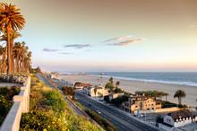 Pacific Coast Highway At Santa Monica Beach