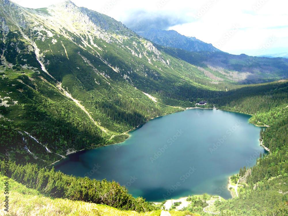 Fototapety, obrazy: Morskie Oko Tatry Wysokie widok z góry