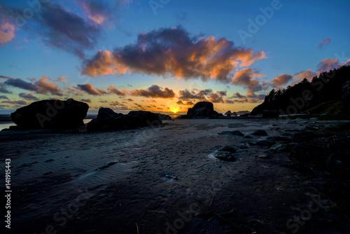 Fotografia, Obraz  Sunset at Moonstone Beach