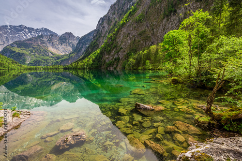 Papiers peints Alpes Breathtaking view for Obersee lake in Alps, Germany, Europe
