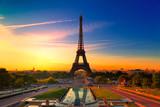 Fototapeta Fototapety z wieżą Eiffla - Eiffel Tower in Paris at Sunrise, France