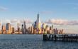 Lower Manhattan viewed from Hudson River waterfront