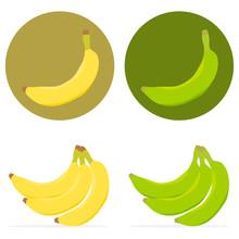 Ripe And Unripe Banana