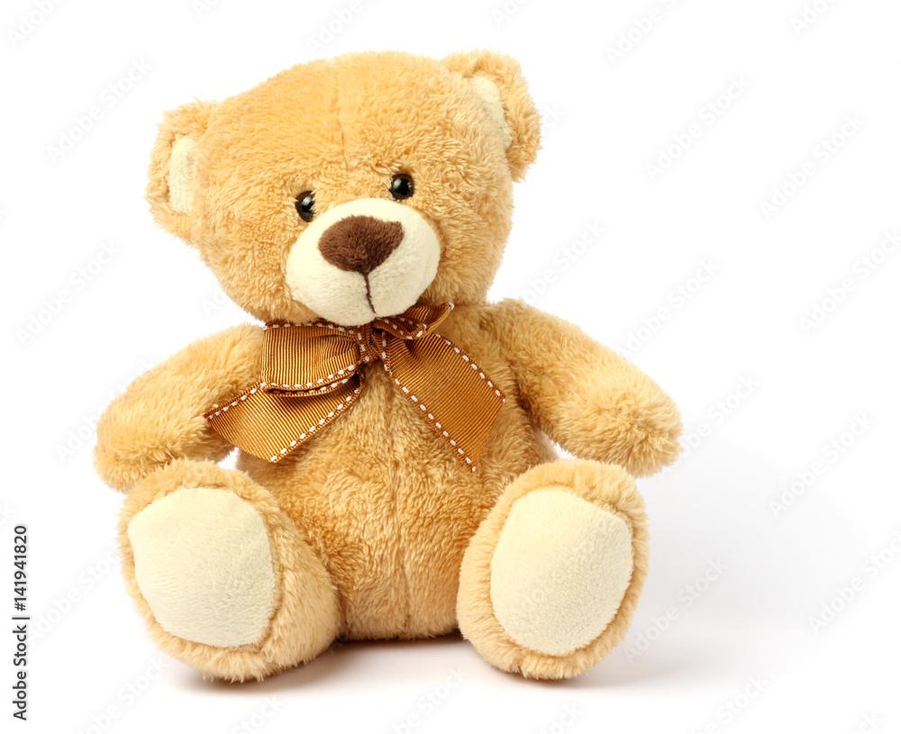 Fototapety, obrazy: toy teddy isolated on white background
