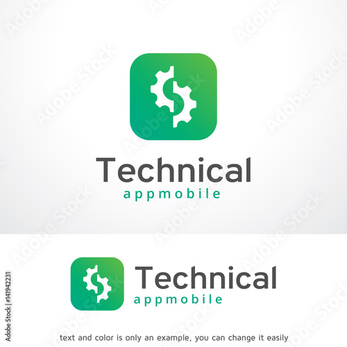 technical app logo template design vector emblem design concept
