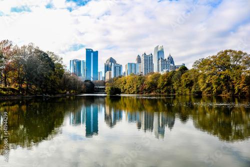 Plakat Piemont Park - Atlanta Skyline