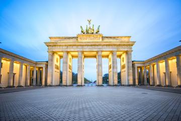 Fototapeta Brandenburg Gate at night in Berlin city, Germany