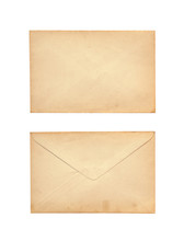 Old Letter Isolated On White B...
