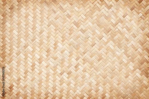 Photo close up woven bamboo pattern