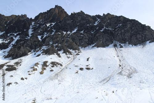 Papiers peints Gris traffic paysage de montagne en hiver