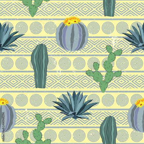 kaktusy-bezszwowy-wzor-z-geometrycznym-tlem-ilustracji-wektorowych