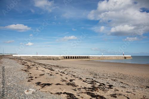 Photo  Sandy Beach and breakwater at Ramsey Isle of Man