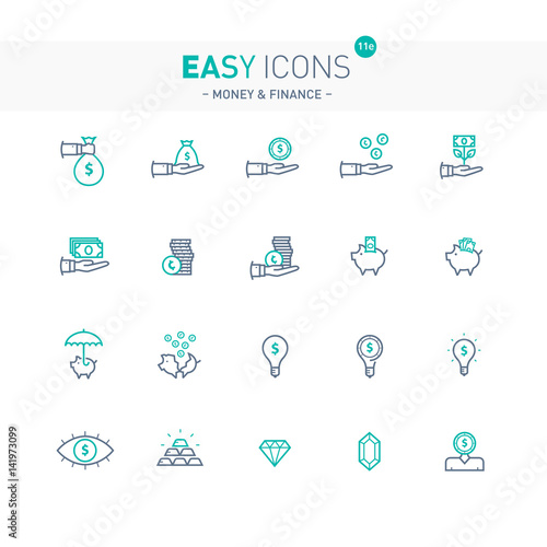 Easy icons 11e Money Canvas-taulu