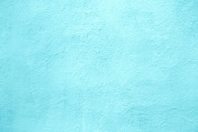 Concrete Wall Of Light Blue Color, Texture Turquoise Cement Background