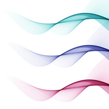 Abstract Background With Blue And Pink Waves