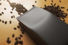 Black Coffee Package Closeup