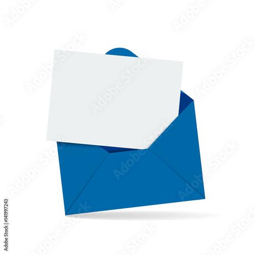 Fotomural  Open envelope with letter