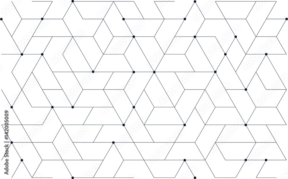 Fototapeta Tech Pattern, Tillable grid mesh geometric pattern repeatable technology hi-tech