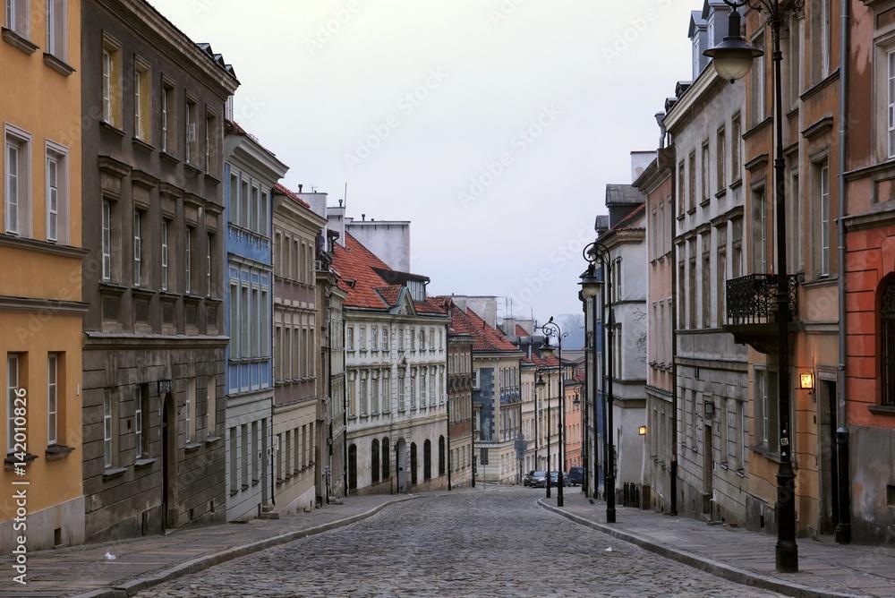 Fototapety, obrazy: Mostowa na Starym Mieście w Warszawie