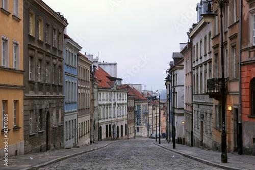 Obraz Mostowa na Starym Mieście w Warszawie - fototapety do salonu