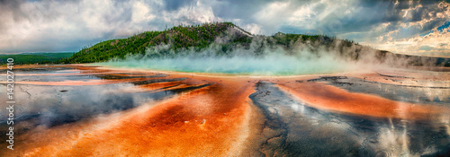 Fototapeta Prismatic Spring at Yellowstone National Park