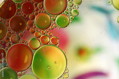 Fotografija  Colorful abstract circles background