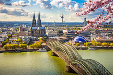 Aerial View Of Cologne At Spri...