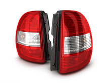 Two Taillight Car