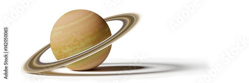 Saturn, isolated on white background