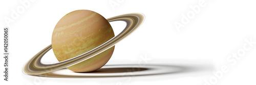 Saturn, isolated on white background