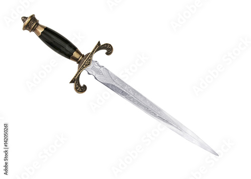 Dagger Fantasy Adventure. sword on white background Canvas Print