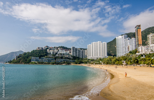 Vászonkép The sunny day at Repulse Bay, the famous public beach in Hong Kong