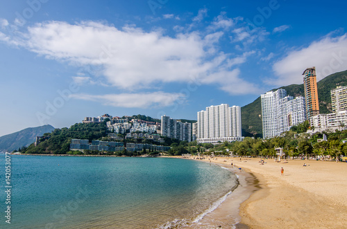 Obraz na plátne The sunny day at Repulse Bay, the famous public beach in Hong Kong