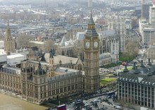 Aerial View Of Big Ben And Wes...