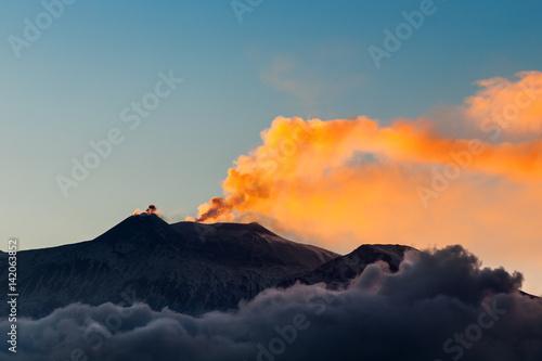 Foto op Canvas Vulkaan Italien, Sizilien, Vulkan Ätna